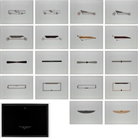 vehicles-sculptures wall-sculptures (portfolio of 18 works) by gianni piacentino