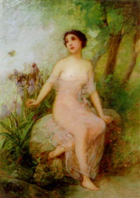 nude in a garden by robert benvenuti
