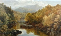 on the garry, perthshire by robert harwood
