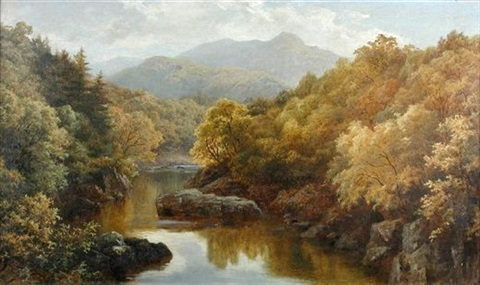 on the garry perthshire by robert harwood