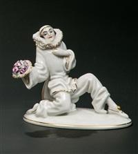 kniender pierrot (gratulant) by constantin holzer-defanti
