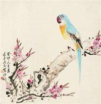 鹦花图 by xiao lang