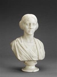 buste af en ung dame by henrik benedikt olrik