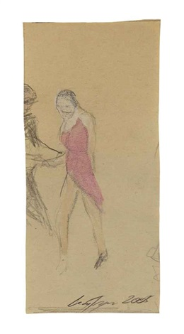 drawing for ballroom dancing by luc tuymans