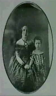 portrait of a mother and daughter by charles (carlos) deforest fredricks
