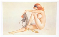 i'm a little tired this evening (playboy, may 1963) by alberto vargas