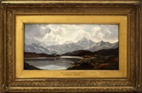 early morning, ben cruachan, argyllshire and a summers day on the river afon lledr, n wales (pair) by charles leslie
