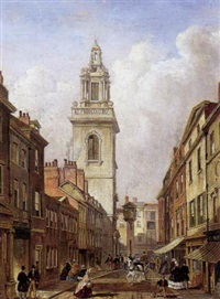 parti fra london med antagelig st. martin-in-the-fields by giuseppe patti sciuti