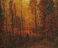 autumn sunset by john joseph enneking