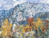 herbstliche berglandschaft by erik haamer