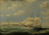 shipping in table bay by william john huggins
