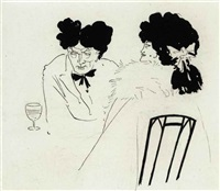 untitled (illustration for bon mots) by aubrey vincent beardsley