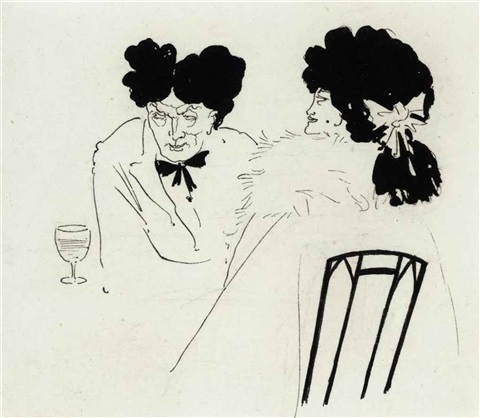 untitled illustration for bon mots by aubrey vincent beardsley