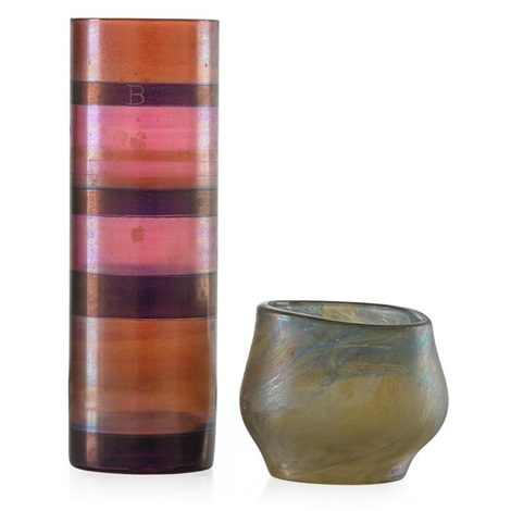 Tall Cylindrical Vase Short Vessel 2 Works By Isgard Moje Wohlgemuth