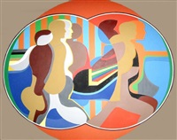 mirror image (orange) by arnold belkin