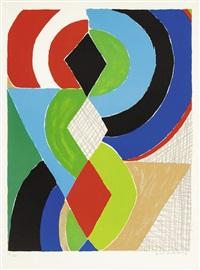 composition avec demi-cercles, losanges et triangles by sonia delaunay-terk
