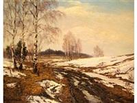 paysage sous la neige by viktor krasilnikov