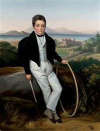 portrait de jeune homme (ferdinand marie de savoie, comte de savoie?) by alexis leon louis valbrun
