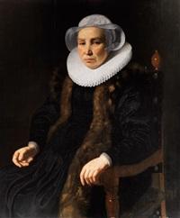 portrait einer dame im lehnstuhl by thomas de keyser