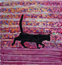cat escaping by farid abu-shakra