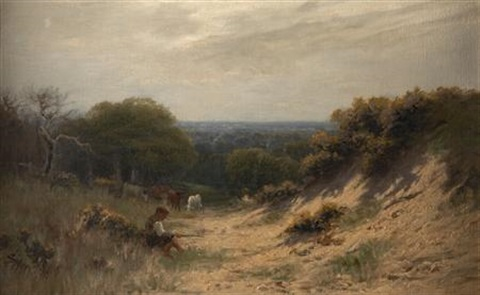 boy sitting on a country path by sidney pike
