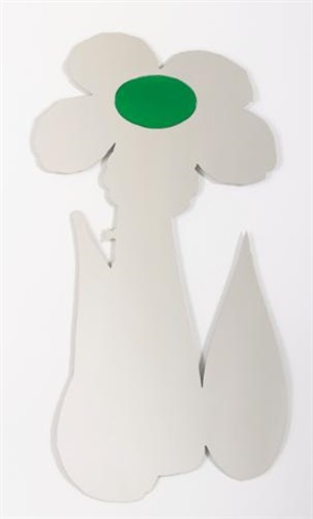 inflatable flower green by jeff koons