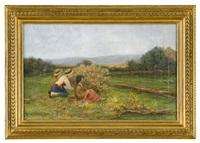 paesaggio con fanciulle che raccolgono more by lorenzo cecconi