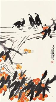 枇杷八哥 by ma longqing