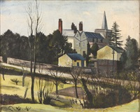 the vicarage, great bardfield by john arthur malcolm aldridge