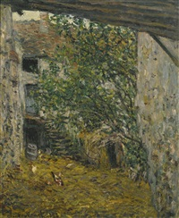cour de ferme by claude monet