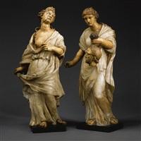 cleopatra (+ judith; 2 works) by nicholas (il franciosino) cordier
