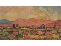 landscape near worcester, recto; landscape, verso by piet (pieter gerhardus) van heerden