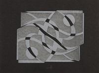 geometrische kompositionen in grautönen (2). gegenstücke. 2 blatt by hermann glöckner