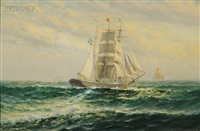 sailing vessel headed for the harbor by theodore victor carl valenkamph