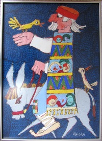 man on donkey by jovan obican