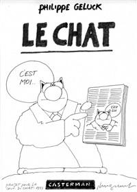 le chat c'est moi (projet de couverture du premier album) by philippe geluck