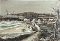 environs de douarnenez (landscape of douarnenez) by bernard buffet