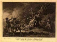 the death of general montgomery (by j.t. clemens) by john trumbull