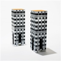 pedestals from the ollo collection (pair) by alchimia