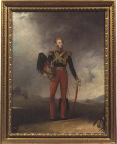 portrait of an officer of the 12th prince of wales royal lancers by charles ambrose