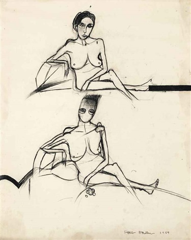 nude studies (3 works) by peter phillips