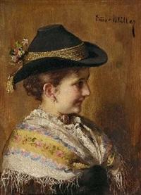 dirndl in tracht by emma (edle von seehof) müller