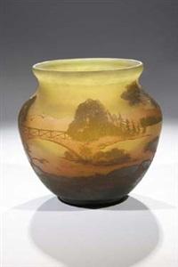 vase mit landschaft by glashüttenwerke weisswasser