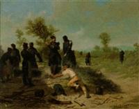 soldaten auf der rast by auguste viande