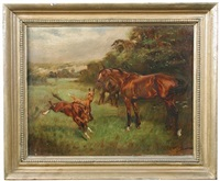 mare and foals by thomas ivester lloyd