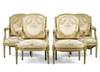 a suite of seat furniture (set of 4) by aubusson