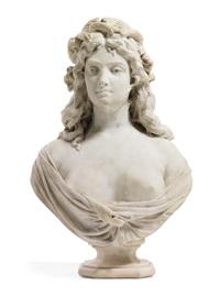 junge frau mit ähren im haar als allegorie des sommers und der fruchtbarkeit by pietro calvi