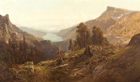 mountain landscape by william keith