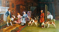 the favourite hounds by gilbert scott wright