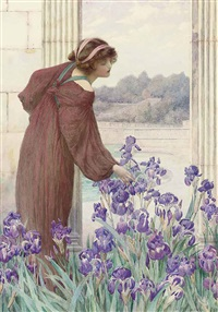 allegory of spring by henry ryland